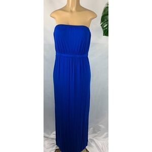 Women's halter maxi elastic band side slit size L